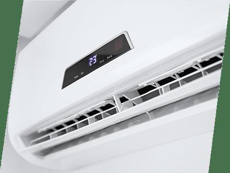Photographie d'une climatisation. ATCE Énergie, spécialisée dans les installations de chauffage, ventilation, climatisation et plomberie, à Aix en Provence.
