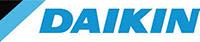 Logo du partenaire DAIKIN. ATCE Énergie, spécialisée dans les installations de chauffage, ventilation, climatisation et plomberie, à Aix en Provence.
