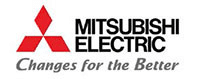 Logo du partenaire MITSUBISHI. ATCE Énergie, spécialisée dans les installations de chauffage, ventilation, climatisation et plomberie, à Aix en Provence.